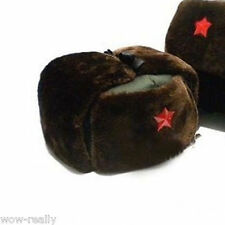 Classic Chinese Russian Army Ushanka winter Warm Green Cap Red Star Badge New