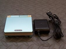 Nintendo Game Boy Advance SP Pearl Blue and Gold Handheld Sys AGS101 BRIGHTER  M