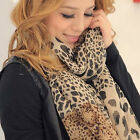 New Hot-sale Lady's Long Soft Wrap Shawl Silk Leopard Chiffon Scarf Shawl Women