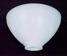 Milk Glass IES Reflector Lamp Shade White 2 7/8 X 10 Floor Table Pendant Waffle