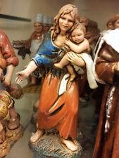 1 pastore donna bimbo landi 10 cm costumi storici pastori, presepe shepherd crib