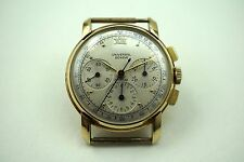 UNIVERSAL GENEVE COMPAX 14K VINTAGE CHRONOGRAPH COOL LUGS C.1950'S BUY IT NOW!!