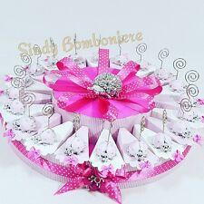 Bomboniere nascita bimba torte 20 fette coccinella clip rosa battesimo LA284