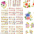 Nail Art Stickers Nail Water Decals Nail Transfers Flowers Floral Roses