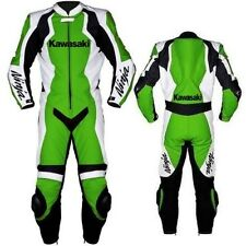 KAWASAKI NINJA GREEN RACING MOTORBIKE LEATHER SUIT CE APPROVED PROTECTION