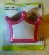 "Push Light. Crown  White and Pink. 5.5"" Battery operated . NEW in package"