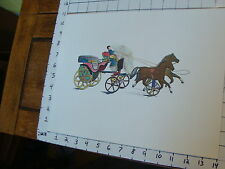 "GEORGE BROWN 11 X 14"" TOY POSTER, TIN TOY--2 horses pulling wagon #34"