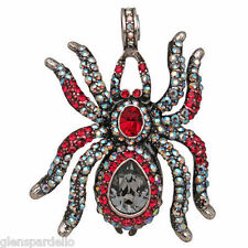 KIRKS Folly Spider Kiss Enhancer magnetic  4 necklace  (Antique Silvertone)