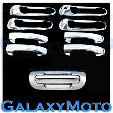 99-04 JEEP GRAND CHEROKEE Chrome 4 Door Handle W/O PSG Keyhole+Tailgate Cover