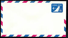 CANAL ZONE 1969 10c AIR MAIL POSTAL STATIONARY ENVELOPE (UC11)  UNUSED