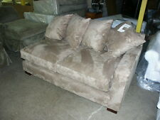 Pottery Barn SECTIONAL SOFA RIGHT ARM LOVESEAT everyday suede wheat NEW