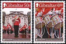 Gibraltar 2014 Europa/Music/Drums/Military Band/Uniforms/Soldiers 2v set (s662g)
