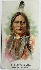 RARE SITTING BULL PHILADELPHIA CARAMEL CANDY TRADE CARD ~ INDIAN PICTURES SERIES