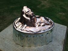 Victorian Antique Copper/Tin Jelly Cake Dessert Mold Resting Lion Design New Tin
