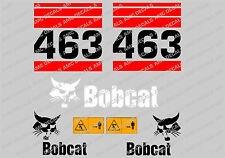 BOBCAT 463 SET DI ADESIVI DECAL DI SKID STEER