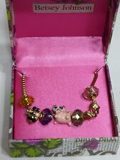 AUTHENTIC BETSEY JOHNSON CAT CHARMS BEE BOW GOLD TONE NECKLACE NWT $35