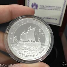 2011 Malta The Phoenicians in Malta Silver Proof Coin Box and Certificate #0607