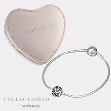 "Authentic Pandora Silver Forever Mine Essence Valentines Gift Set 7.5"" USB794018"