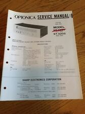 Optonica ST-4201/4205 Stereo Tuner Original Service Manual