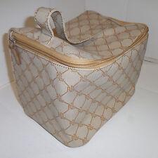 Ralph Lauren Women's Cosmetics Bag Mack-Up Toilettes Carrying Case  Beige 10X6X6
