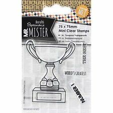 Papermania Mini Clear Stamps - Mr Mister Trophy - World's Greatest, Number 1