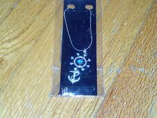 NEW-LAUREN-SPENCER-  SHIPS WHEEL & ANCHOR -GENUINE AUSTRIAN CRYSTALS NECKLACE