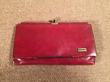 Beautiful Vintage Womens Wallet Change Purse Red Leather Mano Handmade Cool