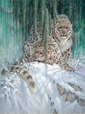 Chart Needlework Crafts DIY Counted Cross Stitch Pattern PDF Snow Leopards