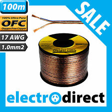 100m 17 AWG Gauge 1.0mm2 Speaker Cable Reel Wire Cord 1.0 mm 2 High End Audio