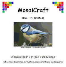 MosaiCraft Pixel Craft Mosaic Art Kit 'Blue Tit' ((Inc. Dove Tail Clips)
