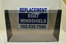 "22 3/4 ""  ID wide center or side boat windshield,    16"" high"