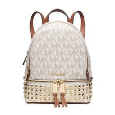 NWT Michael Kors Rhea Zip Stud Backpack, Color Vanilla, MSRP $328