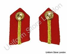 Gorget General's Clip-On Collar Patches Red Gold Russia Braid  L2 1/4'' R860