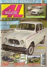 4L MAGAZINE 28 R4 EXPORT 1966 1975 CITROEN 2CV6 DOLLY RENAULT 4 SAVANNE R6