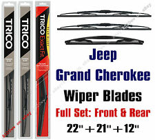Jeep Grand Cherokee 2011-2013 Wiper Blades 3pk Front & Rear - 30221/30210/12A