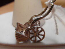 500E VINTAGE STERLING SILVER CHARIOT CHARM / PENDANT
