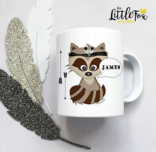 Personalised Plastic Unbreakable Kids Cup, Toddler Cup Adventure RACOON