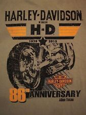 Harley Davidson Motorcycles Dallas Texas TX Allen Brown T Shirt L