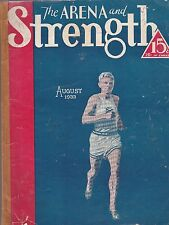 The Arena and Strength Magazine,August 1933 Issue-Body Bulding & Conditioning