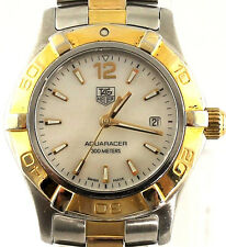 Ladies Tag Heuer Aquarracer Pearl Two Tone Swiss Quartz Watch WAF1424.BB0814