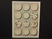 French, France, Porcelain, Dishes, Crystal, Faience, Paris, Catalog Page, !C1#17