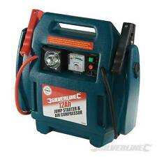 SILVERLINE 12V 900A PORTABLE AIR COMPRESSOR JUMP STARTER BATTERY BOOSTER LEADS