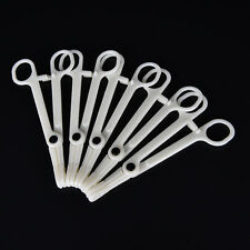1x Piercing Supplies Tool Clamp Disposable Plastic Slotted Round Forcep S&L