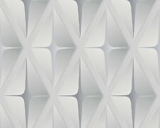 Move Your Wall Geo-Deluxe Wallpaper 960412 Silver Grey