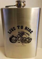 Live To Ride Stainless Steel Biker Flask by MAXAM