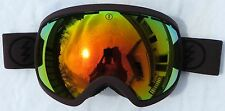 NEW $180 Electric EG2 Adult Winter Snow Ski Goggles Red Solex Chrome Mirror Lens