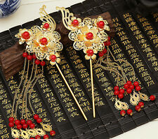 Bridal Chinese traditional gold flower Hair comb flower hair accessories hairpin