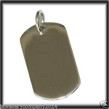 Sterling silver Dog Tag I.D Pendant Jewellery Company