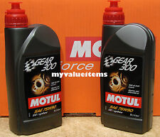 2 Motul GEAR 300 75W90 - 1 Liter Ea - 100118 - 100% Synthetic Ester Based  - NEW