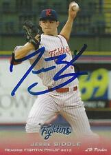 Jesse Biddle 2013 Reading Fightin Phils Signed Card #2